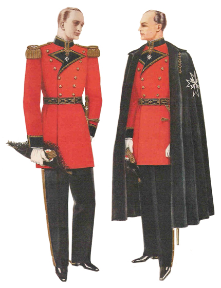 Knight of Malta tunic and cape