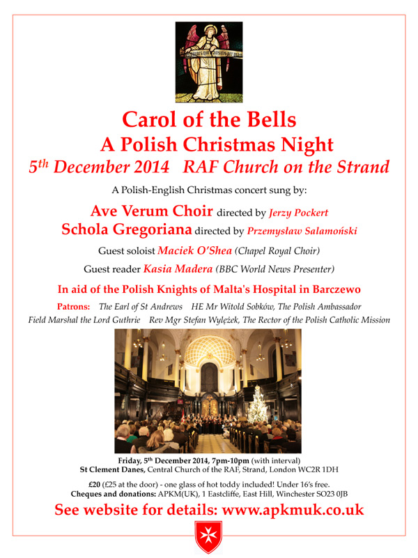 Carol of the Bells poster - English