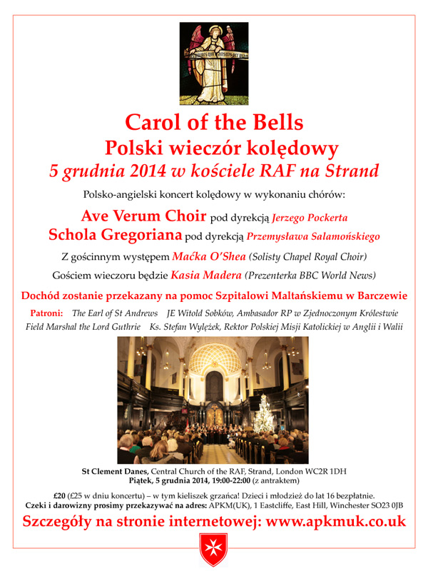 Carol of the Bells poster - Polish